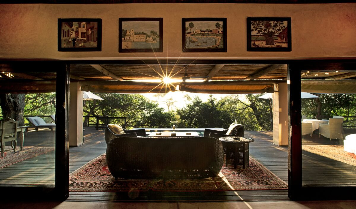 A Royal Suite Bathroom With View Of The Africa Bush