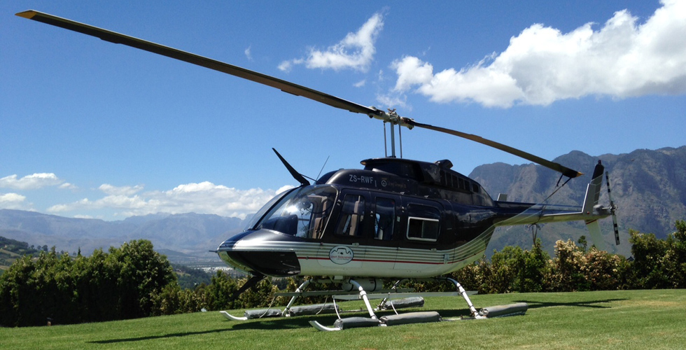 Helicopter Lunch in Franschhoek